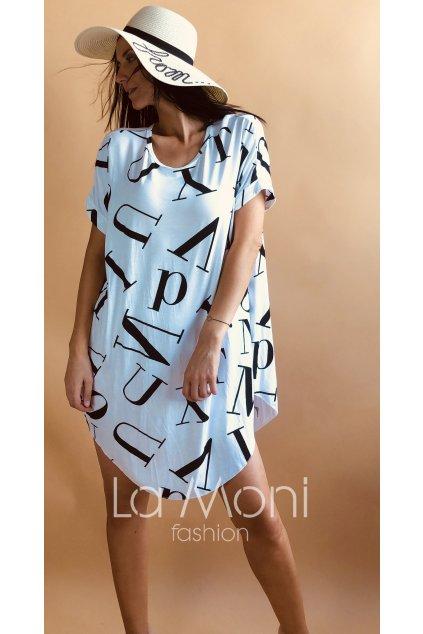 Písmenkové šaty volného střihu- oversize