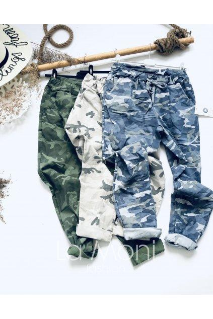 Maskáčové strečové kalhoty  m/l
