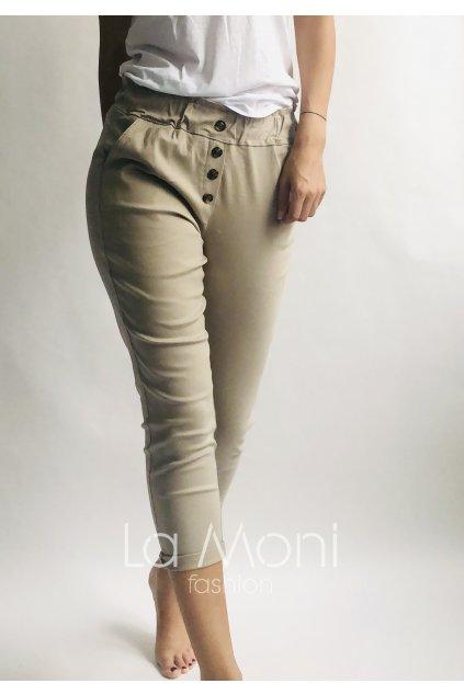 Super strečové  kalhoty s nařasením v pase S, M/L,  L/XL, XL