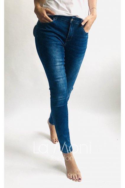 Strečové  push super džíny  - dokonalé větší velikosti