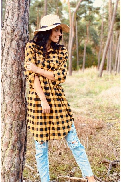Dlouhá flanelová  košile, šaty, tunika    m / xl