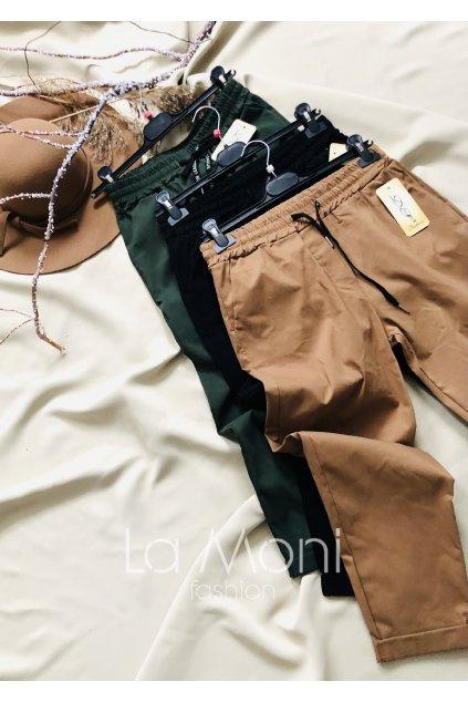 Strečové super kalhoty na gumu v pase   ml/  a  l/xl