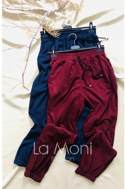 Měkkoučké  kalhoty - pohodlný teplákový střih  m/l