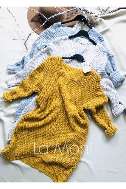 Delší svetr se vzorem  m/ l