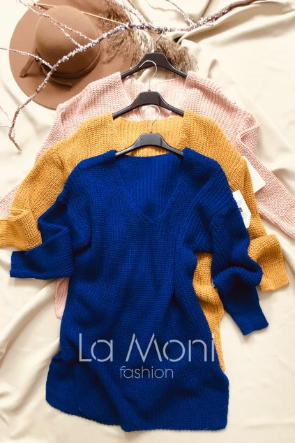 Pletený svetr véčko - rozparek  m/l