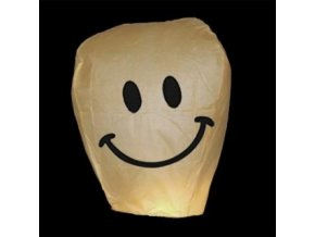 gen vyr 2521Lampion prani Smiley bily