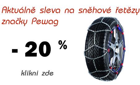 Sněhové řetězy Pewag se slevou 20 %