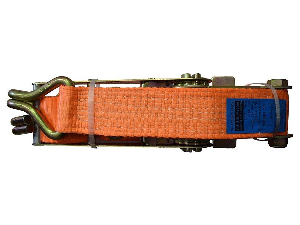Dvoudílný upínací popruh s ráčnou - 5000 daN