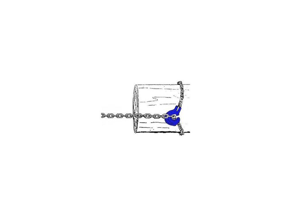 Řetězový úvazek G10 - kulatý modrý řetěz