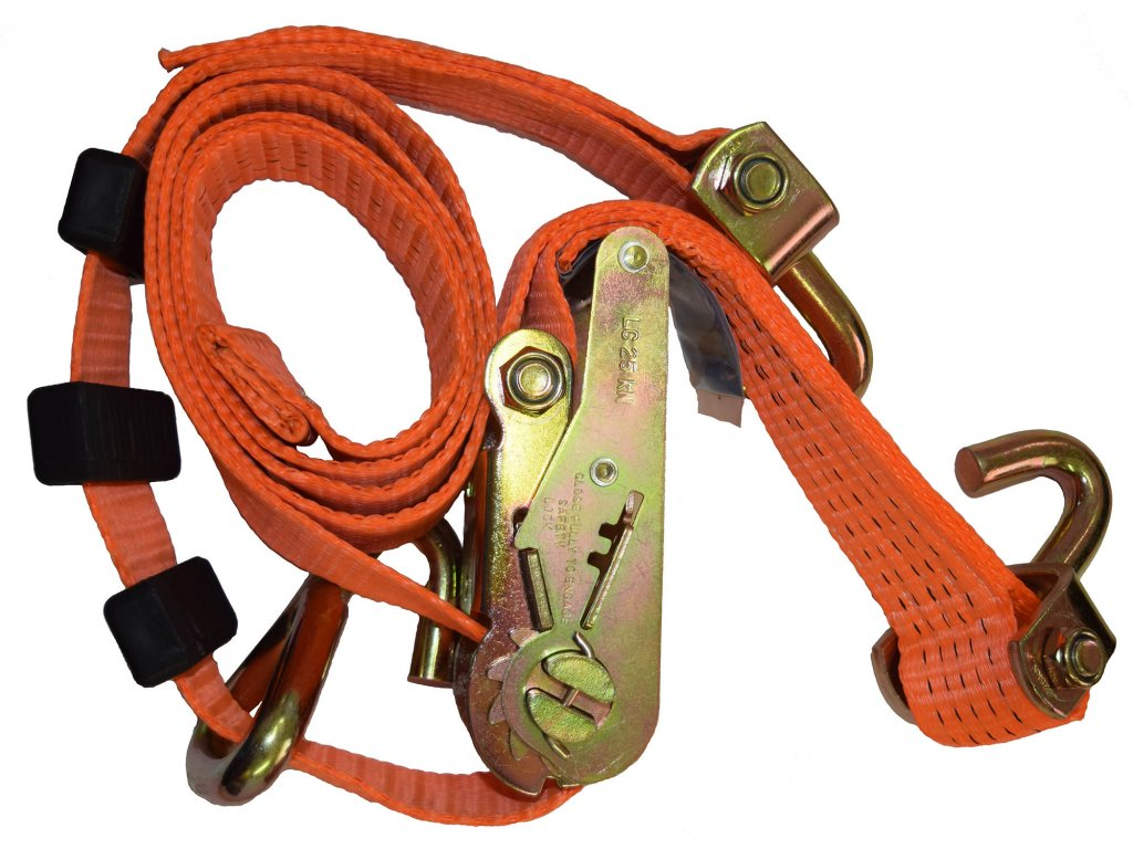 Dvoudílný popruh pro odtahovky s gumami