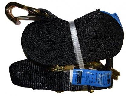 Dvoudílný upínací popruh s ráčnou - 1000 daN - černý