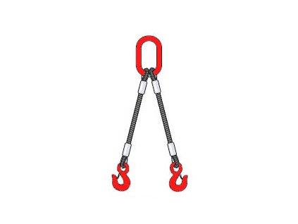 Vázací ocelové lano - dvojhák