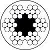 Pozinkované lanko potažené PVC 6x7