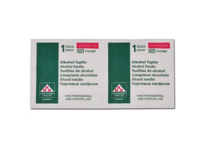 Dezinfekční alkoholové tampóny 3x3 cm
