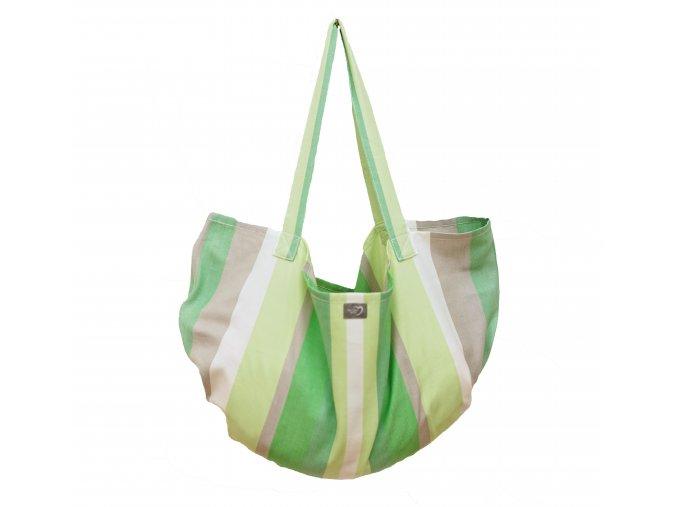 Zelená závěsná taška/váha na vážení novorozence, kojence Hoppediz
