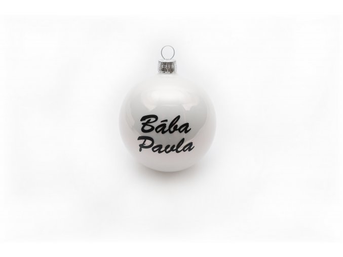 Vánoční skleněná koule se jménem na přání