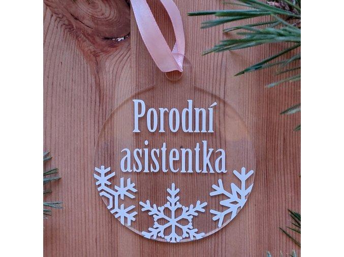 Vánoční ozdoba - porodní asistentka/dula