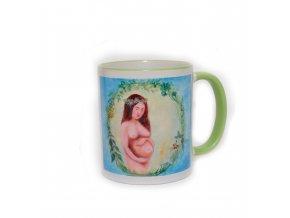 Hrneček s originální kresbou pro porodní asistentky/duly