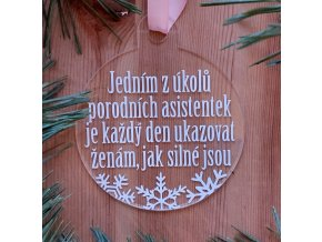 Vánoční ozdoba s citátem - různé druhy