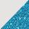 bílá / glitter tyrkysová