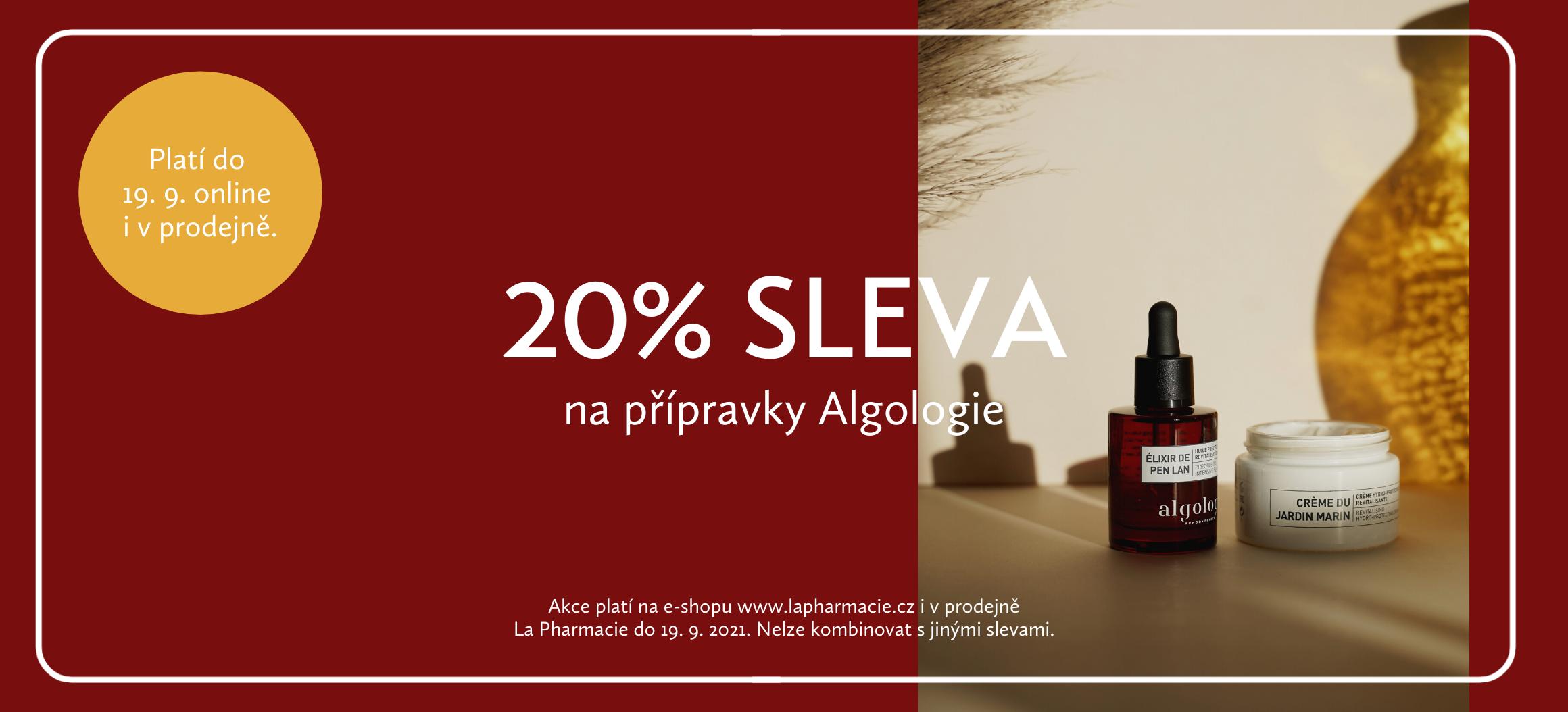 Sleva 20 % Algologie