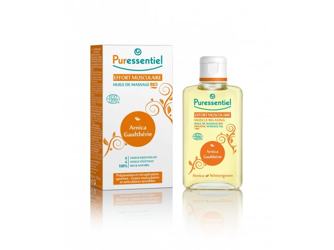 1263 pureessentiel muscle joints bio massage oil arnica wintergreen 100 ml