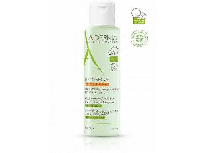A-Derma Exomega CONTROL Zvláčňující mycí gel 2v1 (Velikost balení 200 ml)
