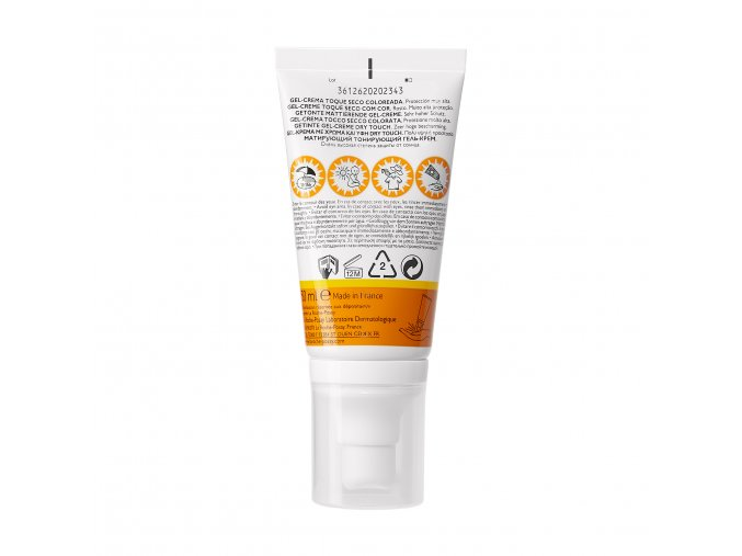 La Roche Posay Sunscreen Anthelios Clean Touch Tinted Gel Cream Spf50 50ml 000 3337875545891 Front