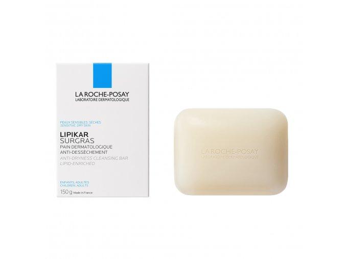 La Roche Posay Soap Lipikar Surgras Cleansing Bar 150g 000 3433422404533 Front