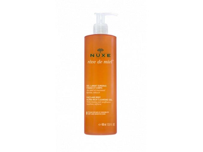 Nuxe Zvláčňující sprch.gel na obličej a tělo 400ml (Velikost balení 400 ml)