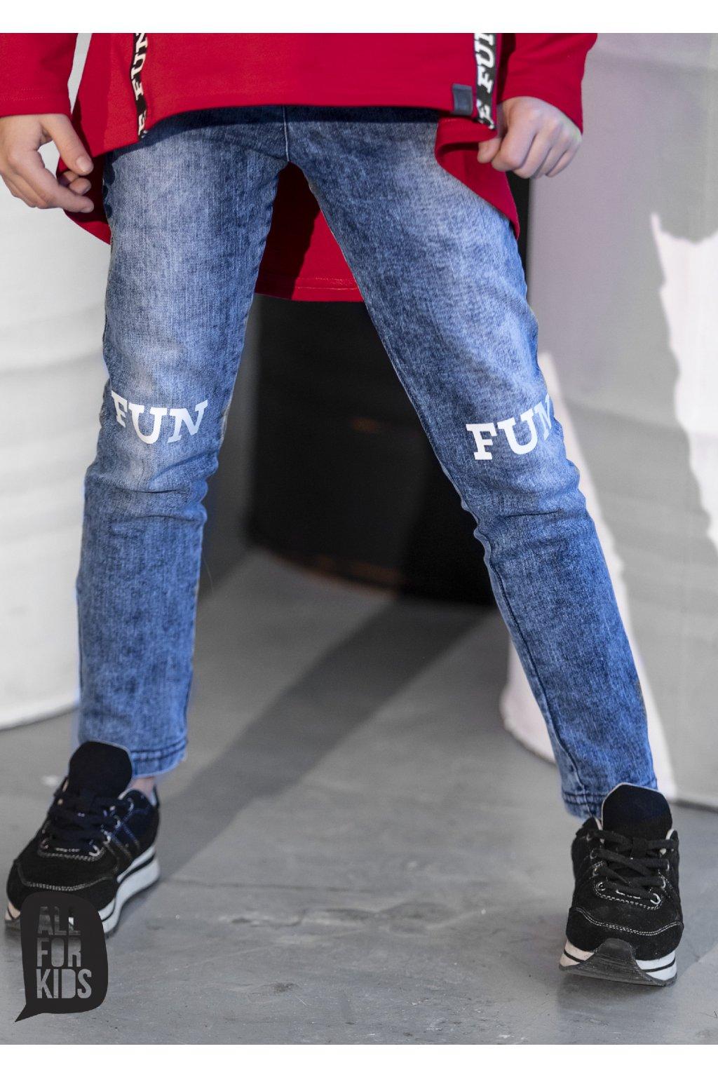 Dívčí Jeans Fun modré