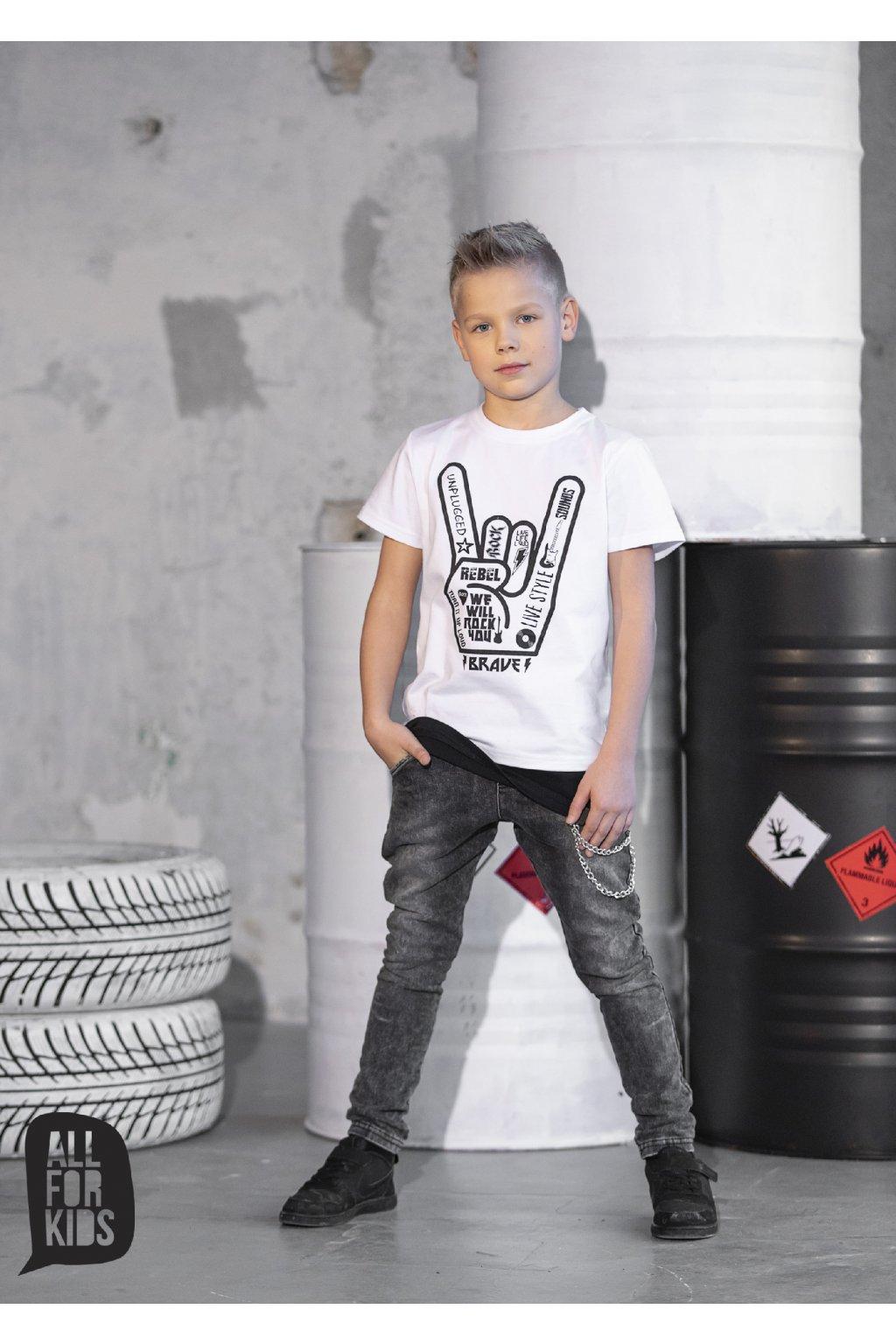 Chlapecké džíny s řetězem černé