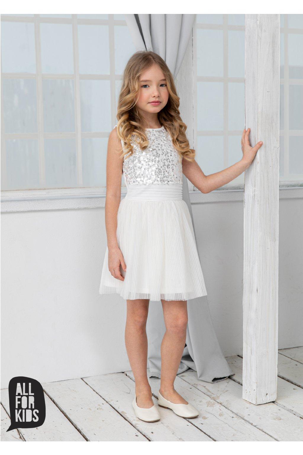 All for kids dívčí šaty s flitry
