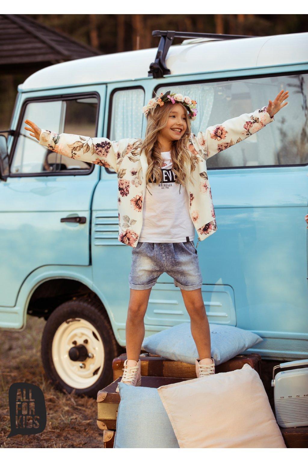 Dívčí kraťasy Soft Jeans modré