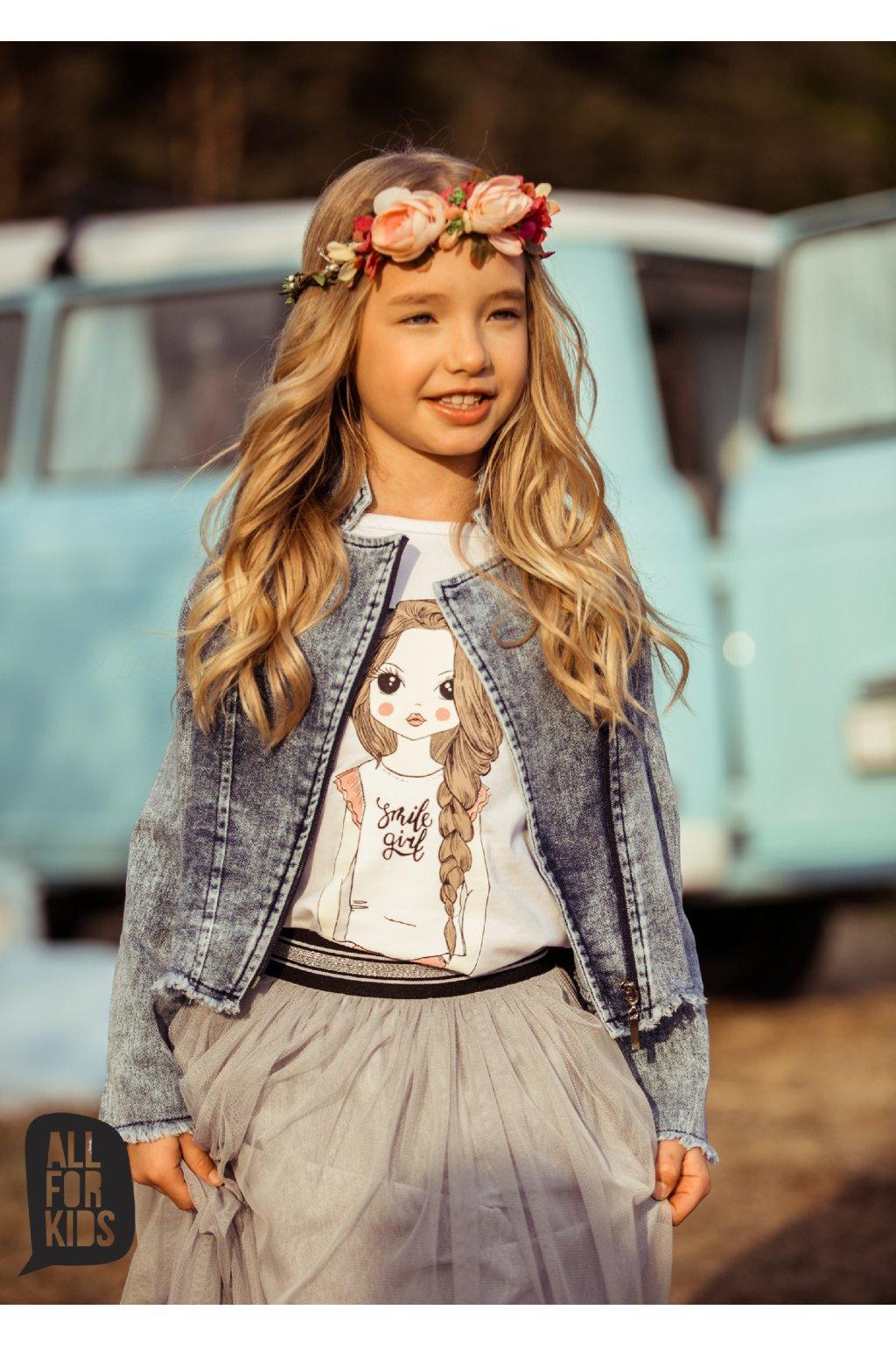 Dívčí křivák Soft Jeans modrý