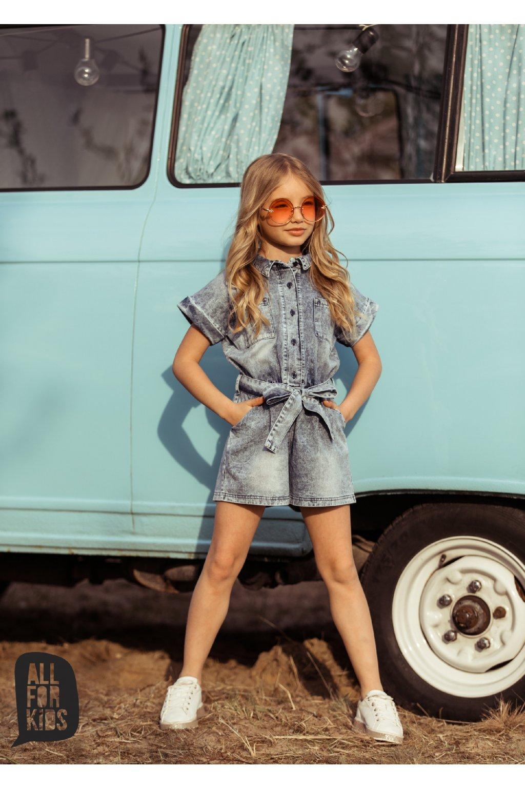 Dívčí overal Soft Jeans modrý