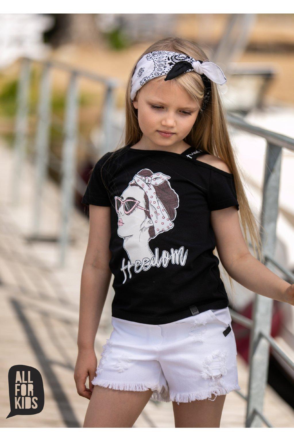 Dívčí tričko Freedom černé