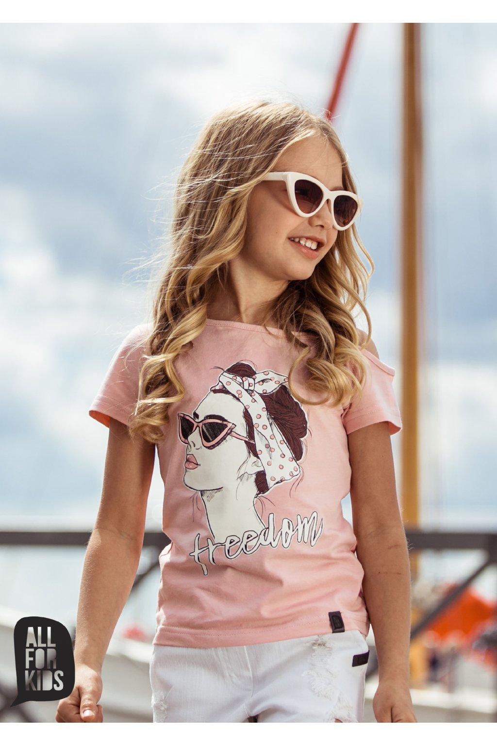 Dívčí tričko Freedom růžové