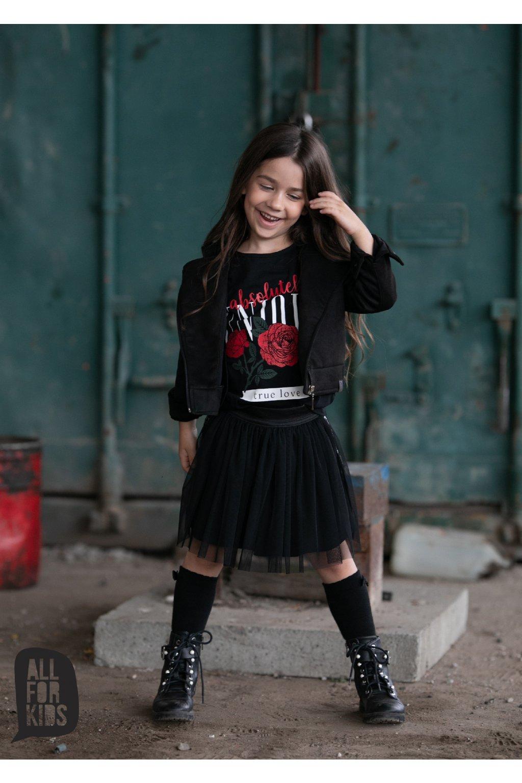 Dívčí křivák broušený černý