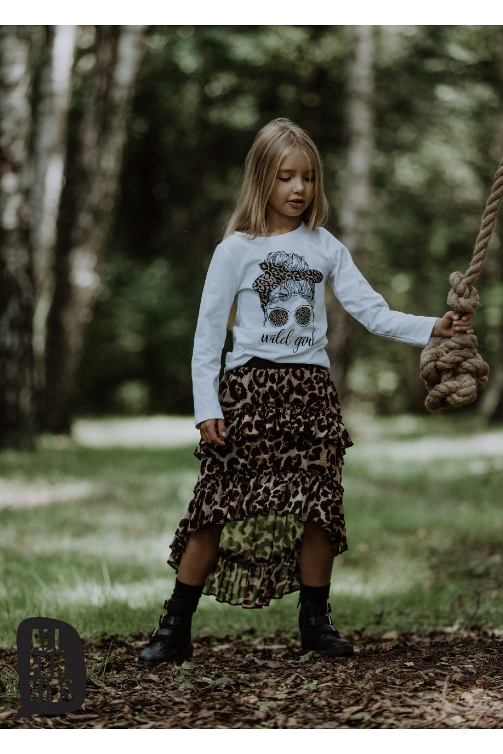Dívčí tričko Wild girl s dlouhým rukávem