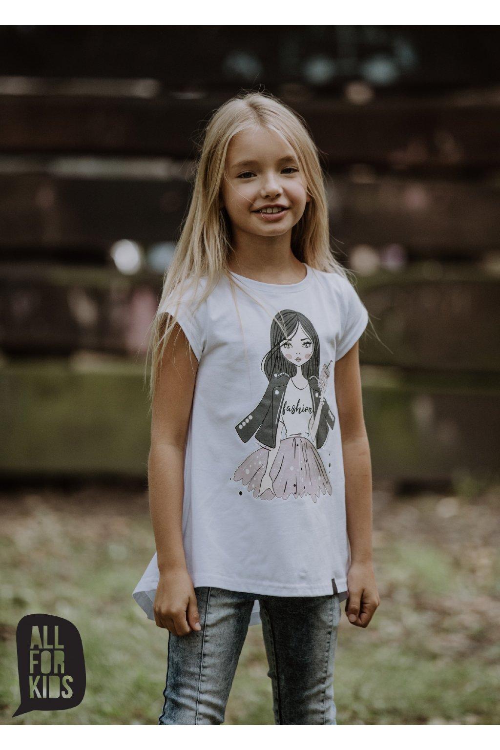 Dívčí tričko Fashion bílé