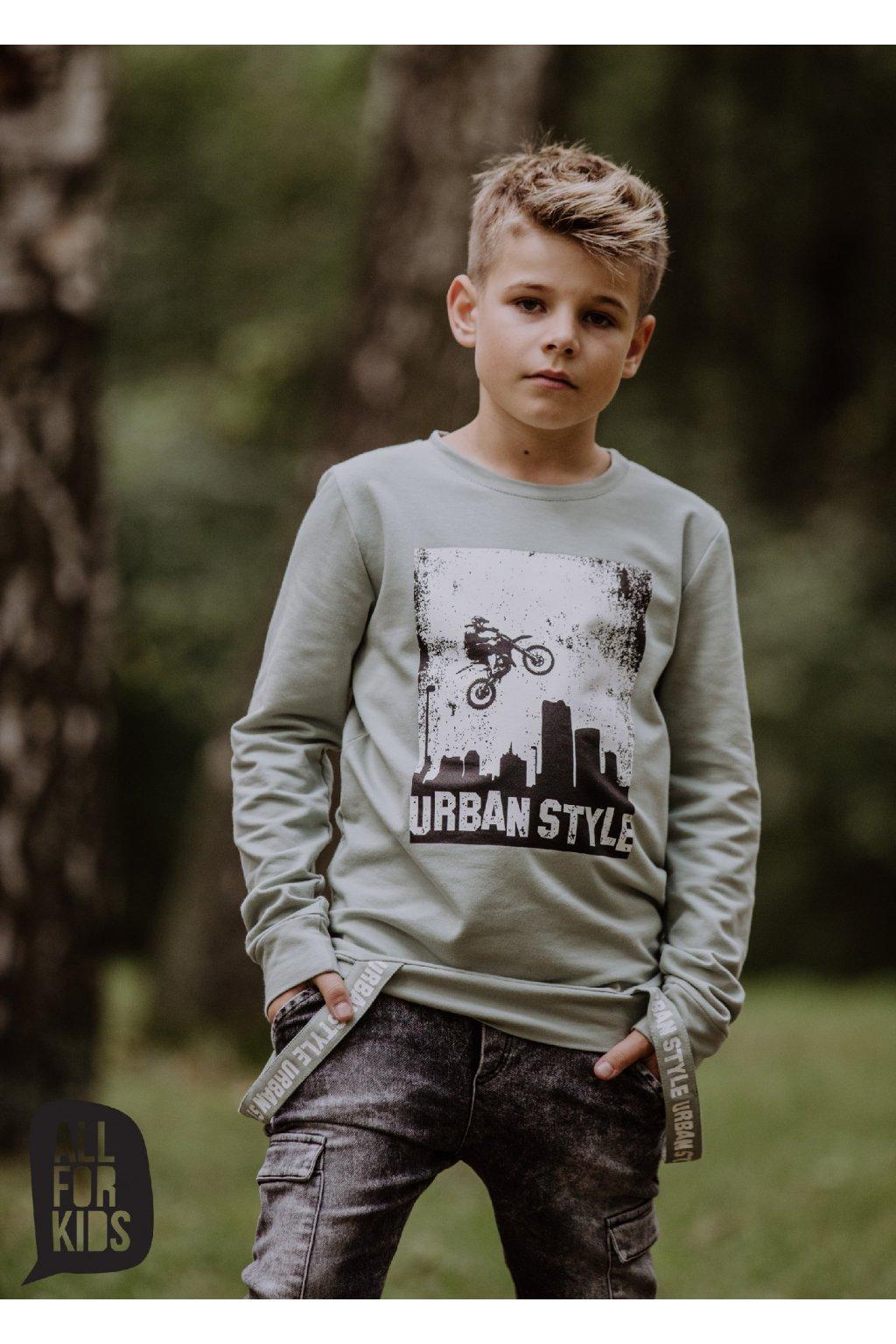 Chlapecká mikina Urban style zelená