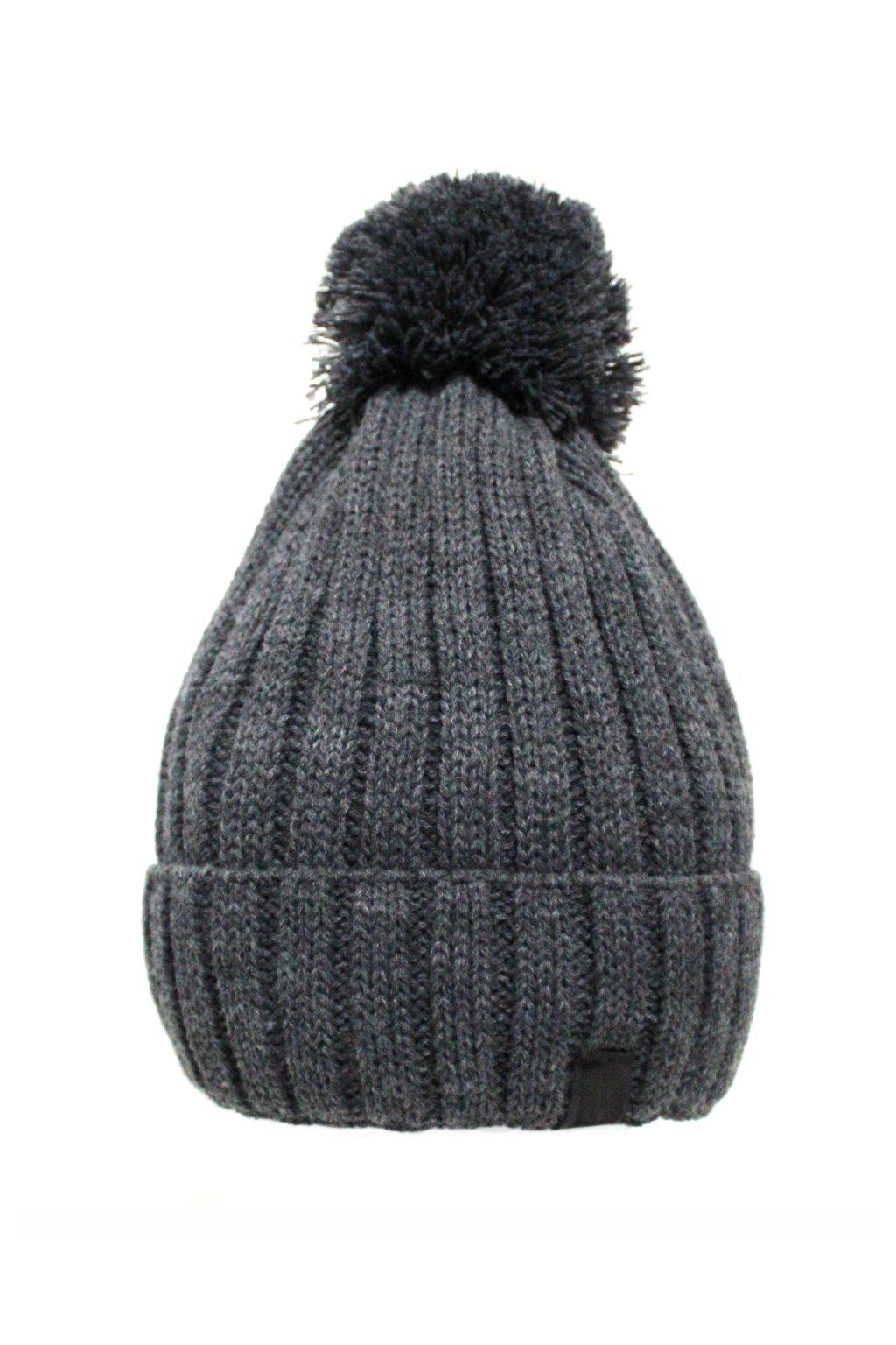 Dětská zimní čepice šedá