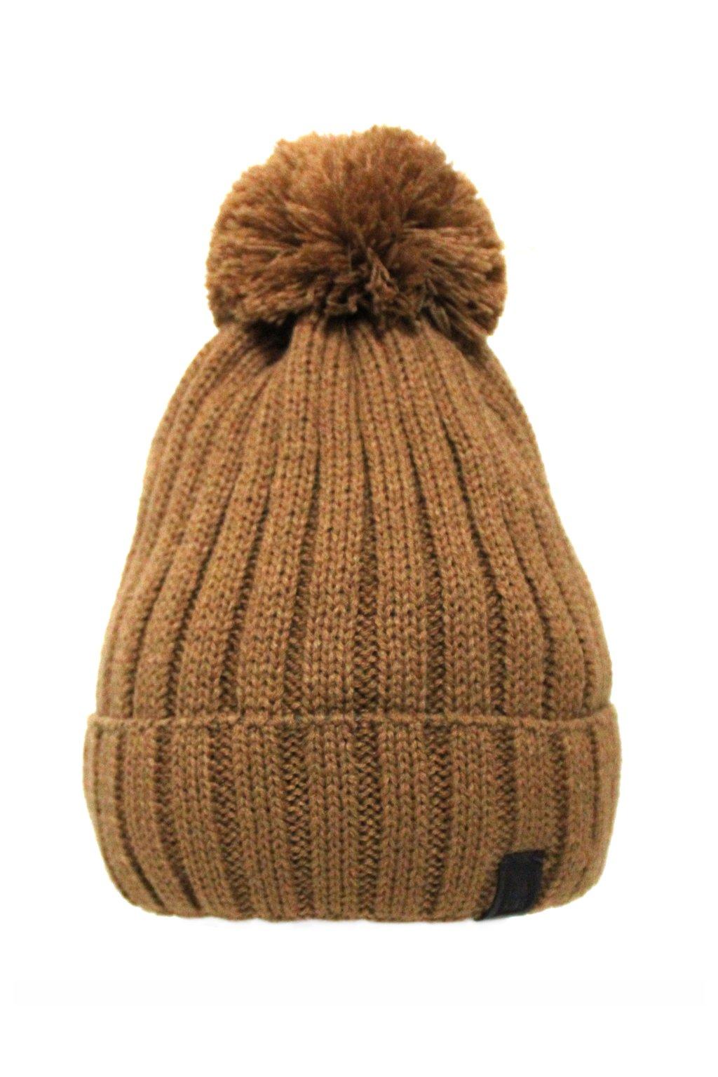 Zimní čepice hnědá
