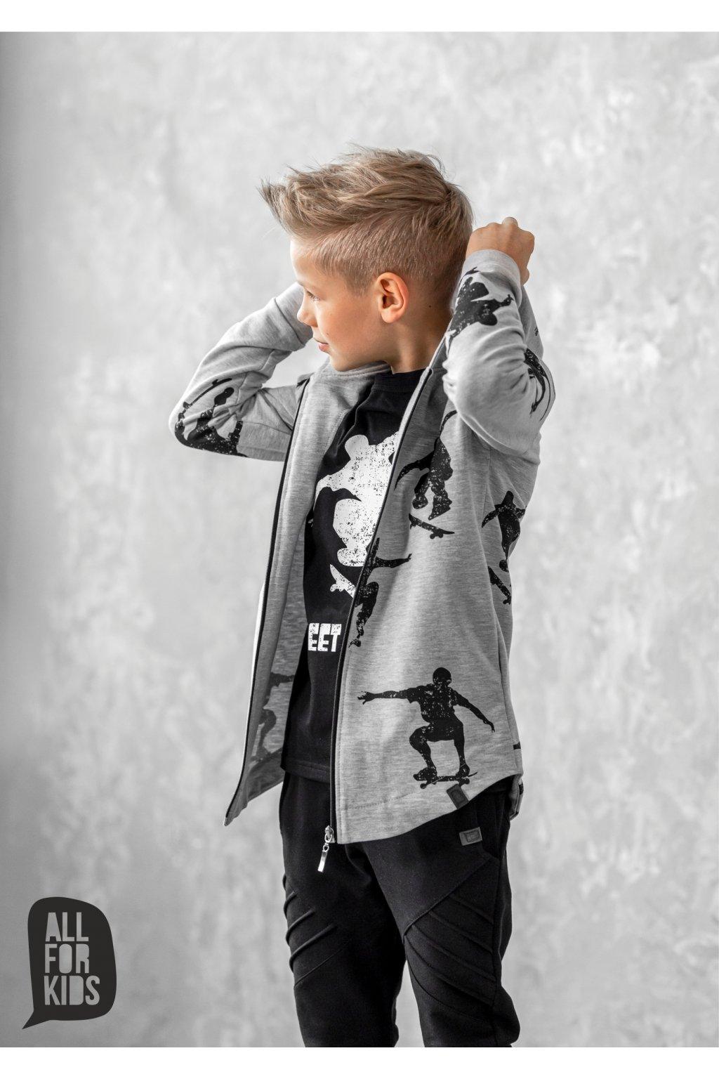 Chlapecká mikina Skate šedá