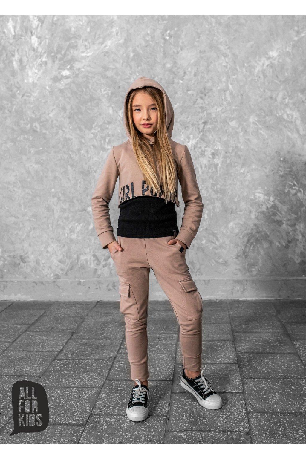 Dívčí souprava Girl Power béžová