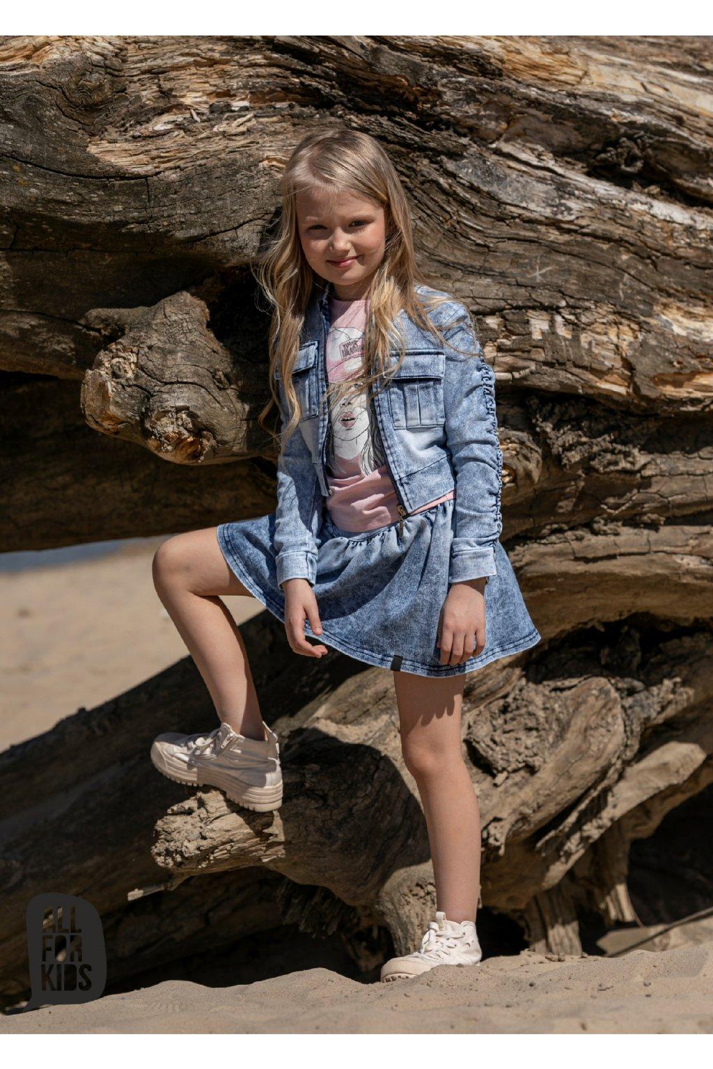 Dívčí sukně Jeans modrá