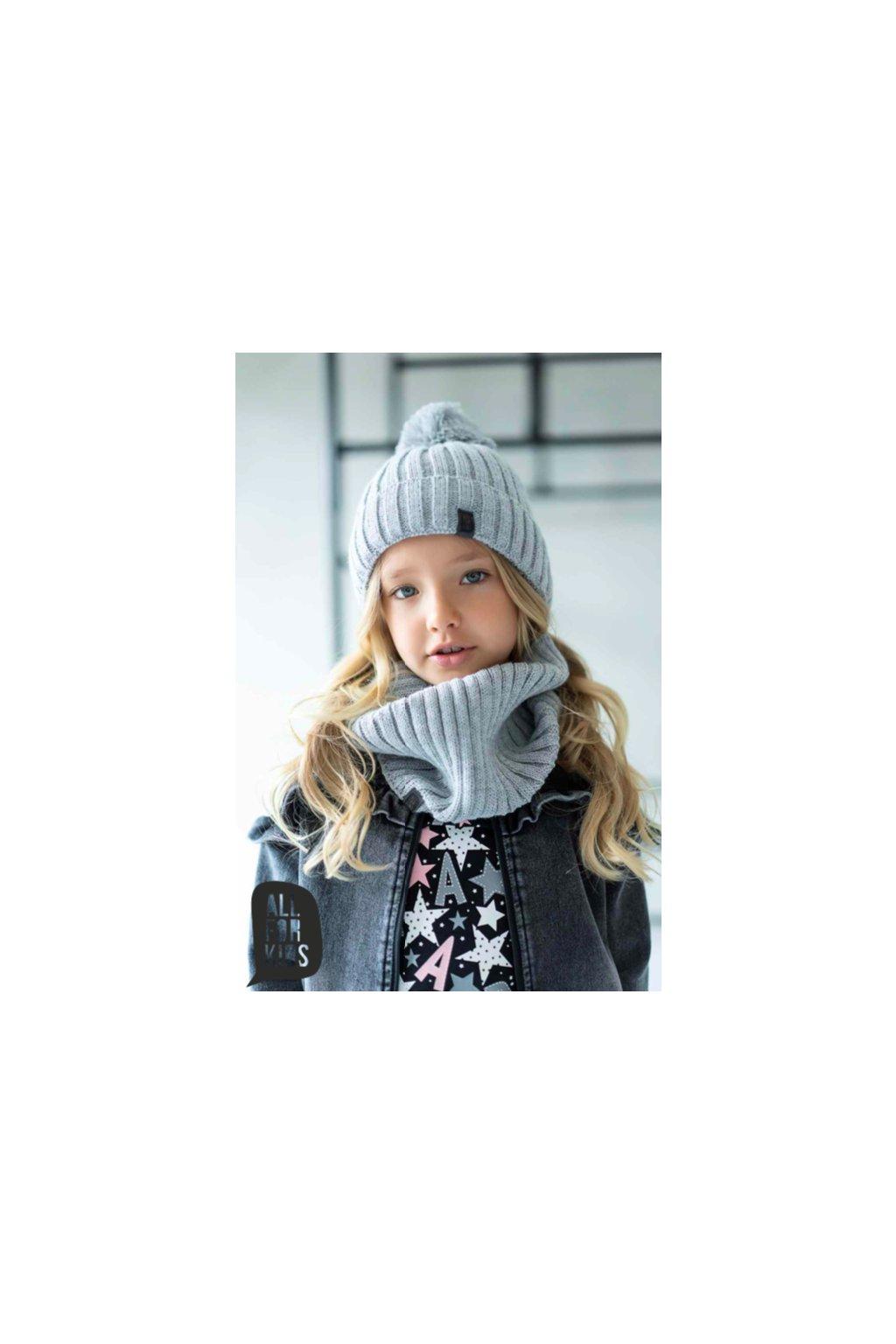 Zimní čepice s nákrčníkem
