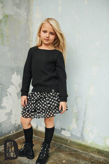 Dívčí sukně s puntíky