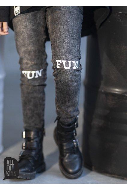 Dívčí džíny Fun černé